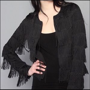 BB Dakota Black Fringe Jacket